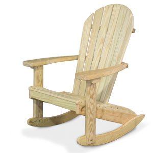 Adirondack Wood Rocking Chair