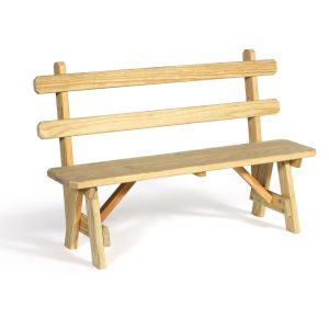 """54"""" Bench with Back"""
