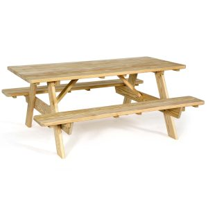 71″ Picnic Table with Attached Seats