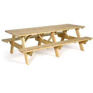 95″ Picnic Table with Attached Seats