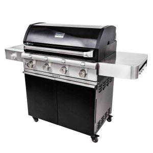 Saber Deluxe Black 4-Burner Gas Grill