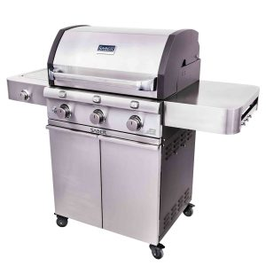 Saber Deluxe Stainless 3-Burner Gas Grill