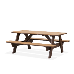 Poly Picnic Table with Attached Seats