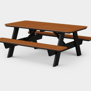 3' x 6' Picnic Table with Benches Attached