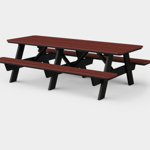 3' x 8' Picnic Table w/ Benches Attached