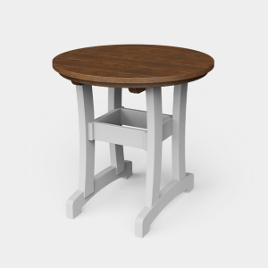 30″ Round Poly Dining Table