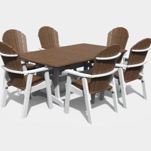 4′ x 6′ Adirondack 7 piece Dining Set