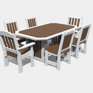 4′ x 6′ English Garden 7 Piece Dining Set