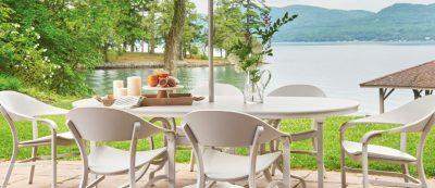 Telescope Jetset Aluminum patio furniture chairs